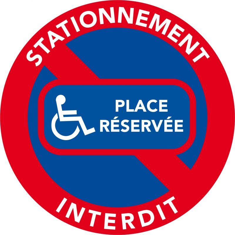 autocollants stationnement interdit place r serv e handicap. Black Bedroom Furniture Sets. Home Design Ideas
