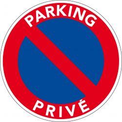 Panneau PVC Parking Privé - Interdiction de stationner