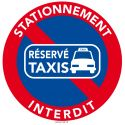 25 Stickers interdiction de stationner. Place réservée aux taxis