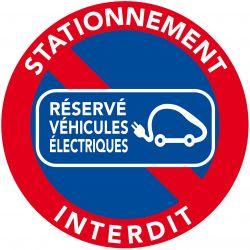 AUTOCOLLANT DISSUASIF réservés véhicules électriques