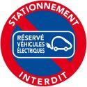"""25 Autocollants """"réservés aux véhicules électriques"""""""