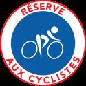 """Autocollants dissuasifs """"Réservé aux cyclistes"""""""