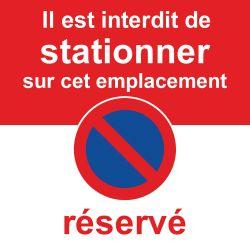 Stickers stationnement interdit car emplacement réservé