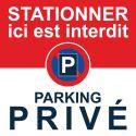 """Autocollant """"Stationner ici est interdit. Parking privé"""""""