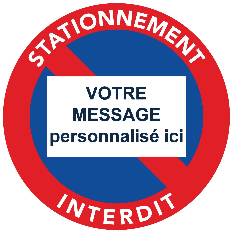 Packs D Autocollants Stationnement Interdit Message A Personnaliser