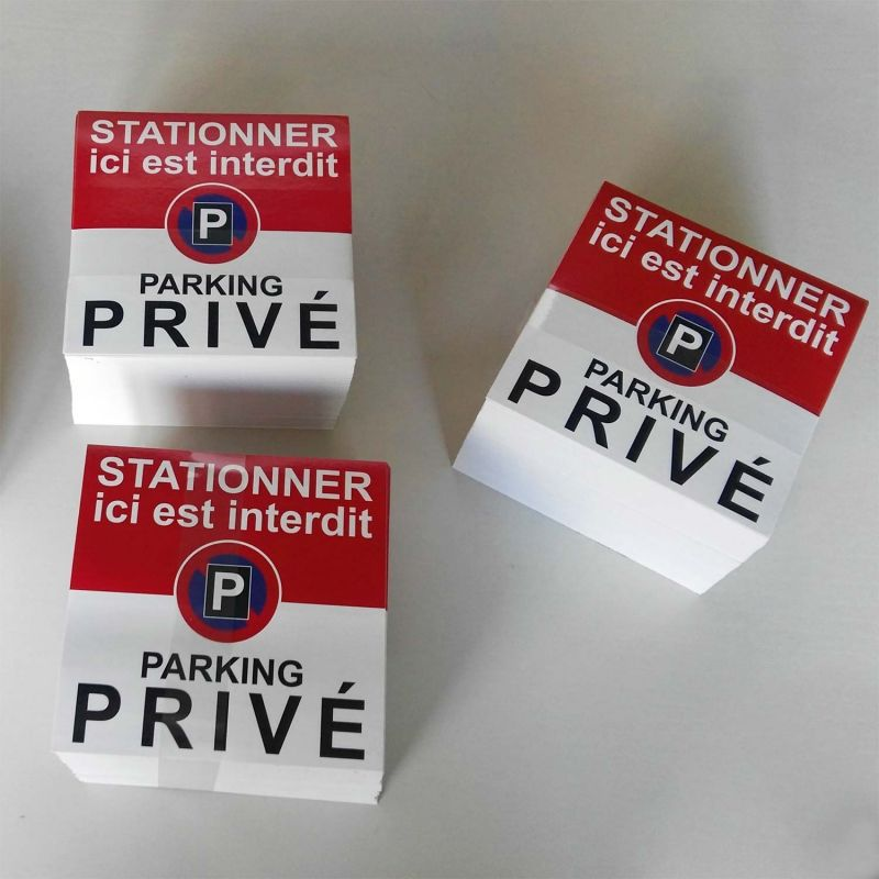 Autocollants Stationner Ici Est Interdit Car C Est Un Parking Prive