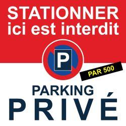 """Flyers """"Stationnement interdit. Parking privé"""""""