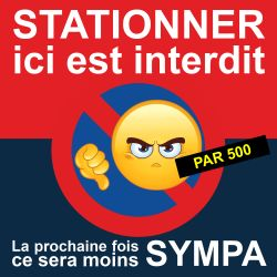 "Flyer ""Stationner ici est interdit"""