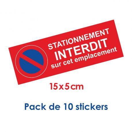 petit Sticker stationnement interdit