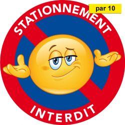 Stickers stationnement interdit vendus par 10