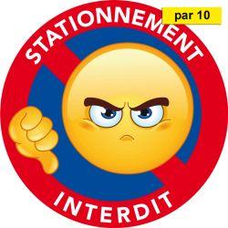adhésifs stationnement interdit vendus par 10