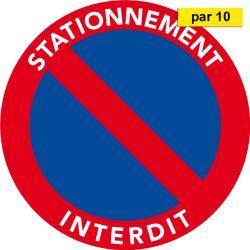 Autocollants dissuasifs - Stationnement gênant - Interdiction stationnement - par 10