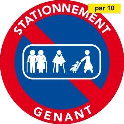 Autocollants stationnement interdit - Passage de personnes - par 10