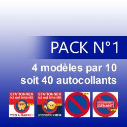 Pack de 4 Modèles d'autocollants par 10 (soit 40 autocollants)