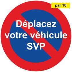 Autocollants dissuasifs pour mauvais stationnement