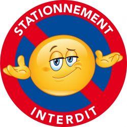 Autocollants dissuasifs - Stationnement Interdit - Autocollants colle forte