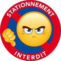 Autocollants stationnement interdit panneaux interdiction for Panneau d interdiction de stationner devant un garage