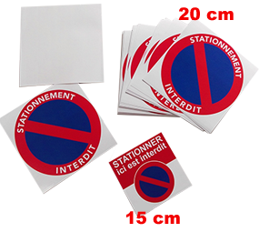 Sticker stationnement interdit grand format