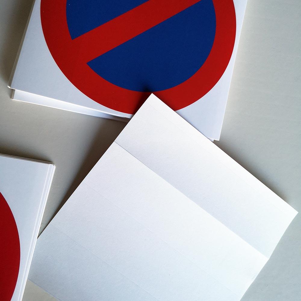 stickers pour voitures en stationnement interdit