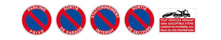 Nos panneaux de stationnement interdit